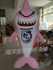 Pink Shark Mascot Costumes Cosplay Advertising Adults Party Fancy Birthday Dress