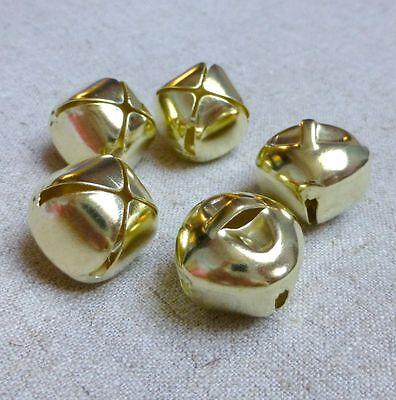10pcs - Big 20 mm light gold jingle bells Charm Christmas Pendant
