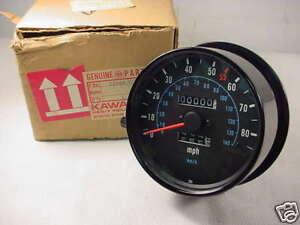 kawasaki kz1000 shaft 1980 nos speedometer 25005 1071 ebay. Black Bedroom Furniture Sets. Home Design Ideas