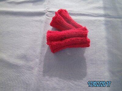Baby-kinder Pulswärmer Armstulpen Rot M. Daumenloch Ca.8,5 Cm