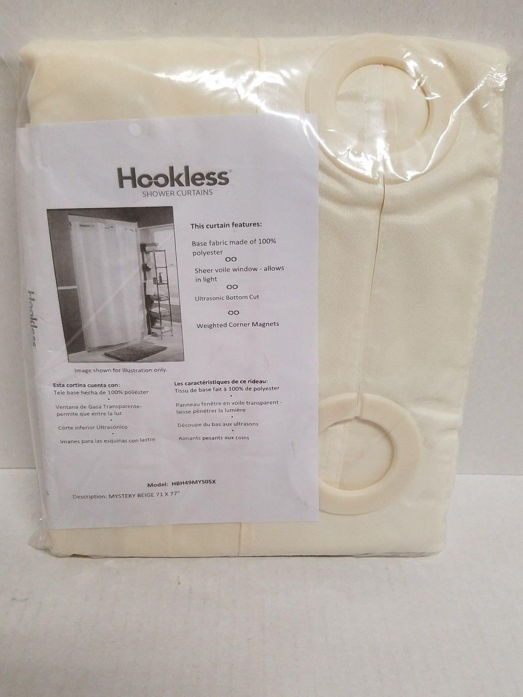 Hookless® Shower Curtain Mystery Beige - Longer Length 71  x 77