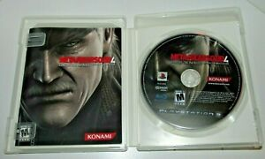 Metal-Gear-Solid-4-Ps3-Sony-Playstation-3-Game-Mint-Condition