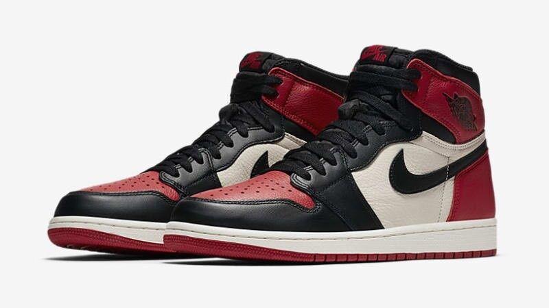 2018 Nike Air Jordan dedo 1 retro High og Bred dedo Jordan mucho e6d488