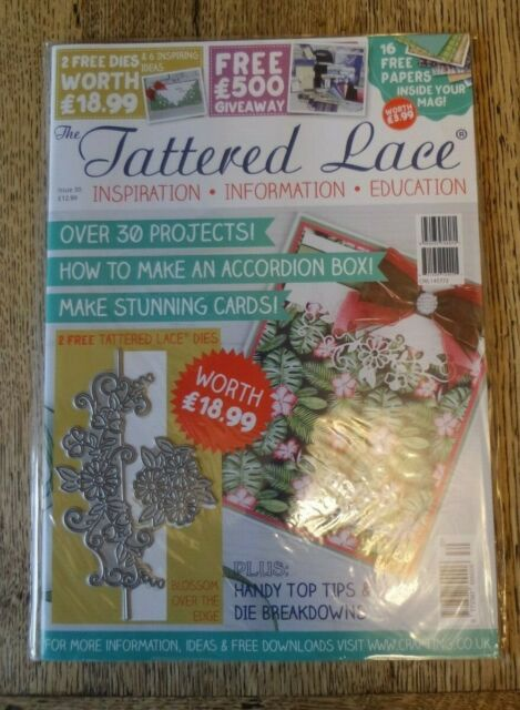 The Tattered Lace Craft Magazine Issue 30 Paper And Die NEW & SEALED