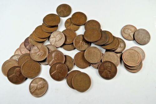 *S MINT* Wheat Penny Roll //// Mixed Dates //// 50 Coins BONUS 50
