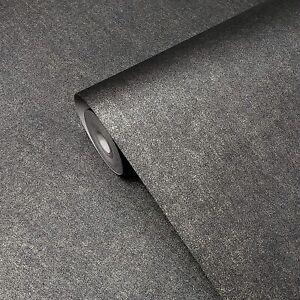 Modern-Plain-Gray-gold-Charcoal-Metallic-non-woven-Wallpaper-rusted-faux-foil