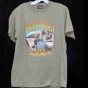 Henderson-Harley-Davidson-Men-Medium-T-Shirt-2003-Summer-Dealer-Meeting-Lt-Brown