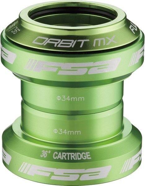 Head Set Fsa Orbit Mx Para 1  1 8  en verde anodizado  tienda de venta