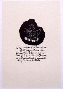 GEORGES-BRAQUE-ltd-ed-vintage-mounted-lithograph-Mourlot-1963-12-x-10-034-GB014b