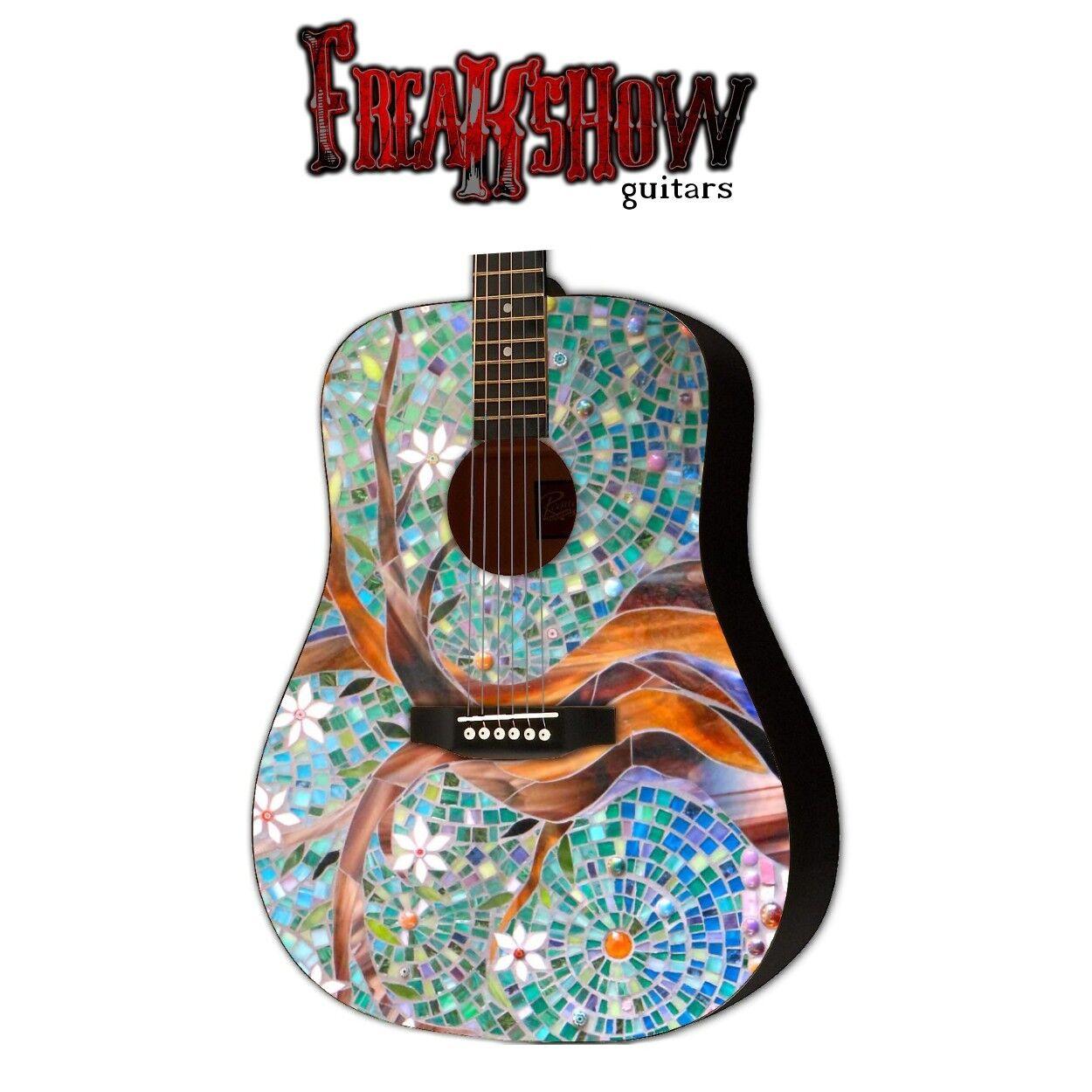 Grafische akustische Gitarre MOSAIC TREE Design