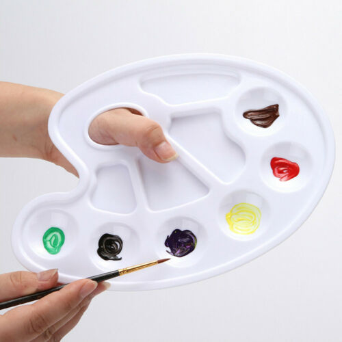 Acrylic Mixing Paint Draw Nail Art Watercolor Plastic Palette Tray 1 piece