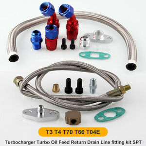 Universal-Turbo-Oil-Line-Kit-Feed-Line-Return-Line-kits-T3-T4-T70-T66-New