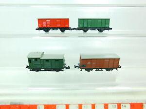Bu537-0-5-4x-Minitrix-pista-n-dc-vagones-db-hilfszug-feuerloschwagen-etc-Neuw
