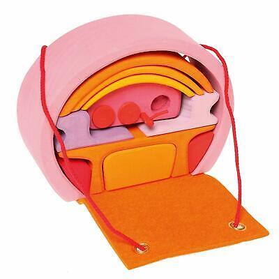 Dolce Grimm's Gioco E Legno Design 10880 Rosa-orangenes Bauhaus Per Bambole Unterwegs