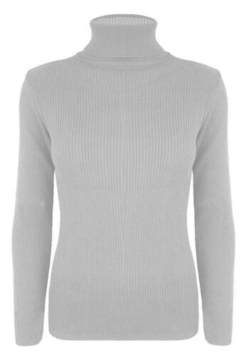 New in Fashion MS Style Womens Ribbed Polo Neck Jumper