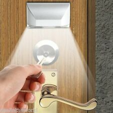 IR Motion Sensor Auto PIR Keyhole Lamp 4 LEDs Light for Door Keyhole Stairway
