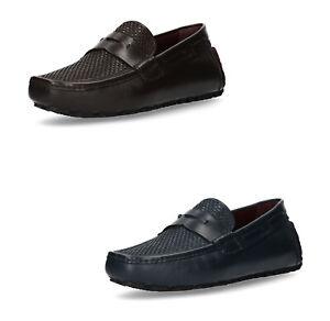 BOSS BLACK Herren Slipper Schuhe Mokassins echt Leder Halb Loafer bequem