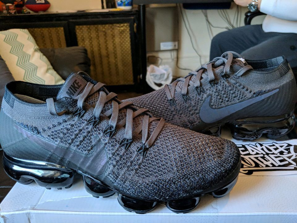 Nike Air Vapormax Flyknit Midnight Fog Multi-Color Black 3M Rainbow 849558-009