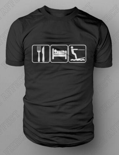 Eat Sleep Waterski Wakeboard Slalom Racing Trick Ramp Jumping T-shirt M-XXL New