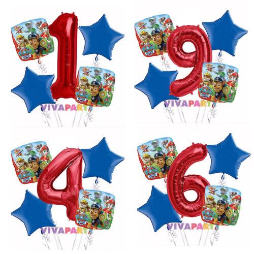 Paw Patrol 1-9 Birthday Balloon Bouquet 5 pcs Boys Birthday Party