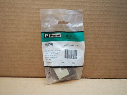 Panduit MUJC88EI 8 POS 8 WIRE Universal Pan-Jack Modular Jack Cat 3 568B
