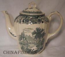 VILLEROY & BOCH china BURGENLAND GREEN pattern Coffee Pot & Lid