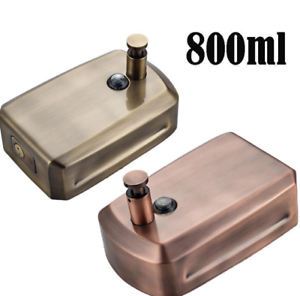 Details About Two Color Liquid Soap Dispenser Bathroom Wall Mounted 800ml Antique Style Bronze