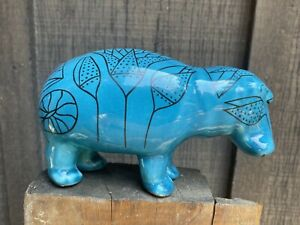 MMA-Museum-of-Modern-Art-WILLIAM-The-HIPPO-Egyptian-Blue-Ceramic-Pottery-Figure