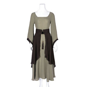56f5392e20 Image is loading Europe-Prairie-Peasant-Women-Costume-Medieval-Renaissance -Dress-