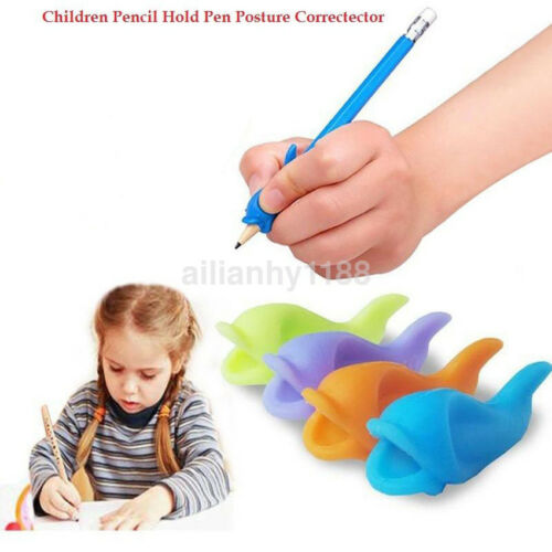 1 of 1 - 10 x Silicone Children Pencil Holder Writing Hold Pen Posture Correction Grips