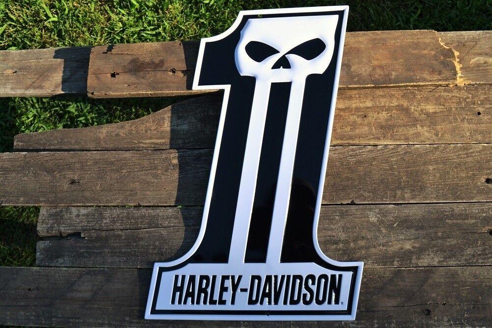 Harley Davidson Willie G Skull 1 Logo Embossed Tin Metal