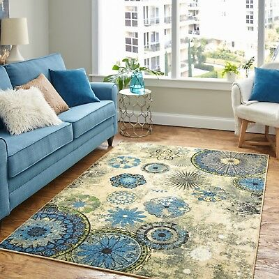 RUGS AREA RUGS CARPET 8x10 AREA RUG FLOOR BIG MODERN LARGE COOL BLUE ROOM  RUGS ~ | eBay