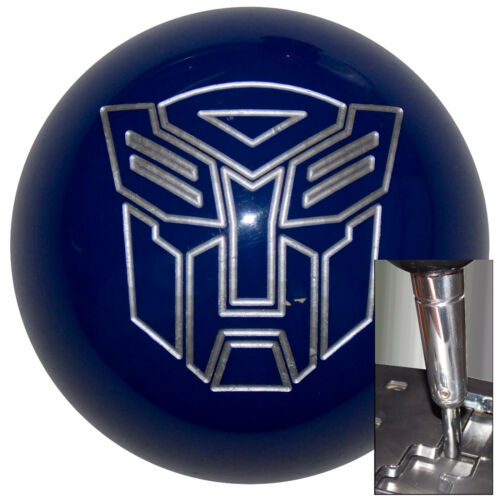 Autobot Blue shift knob w// chrome adapter for automatic shifters See desc.