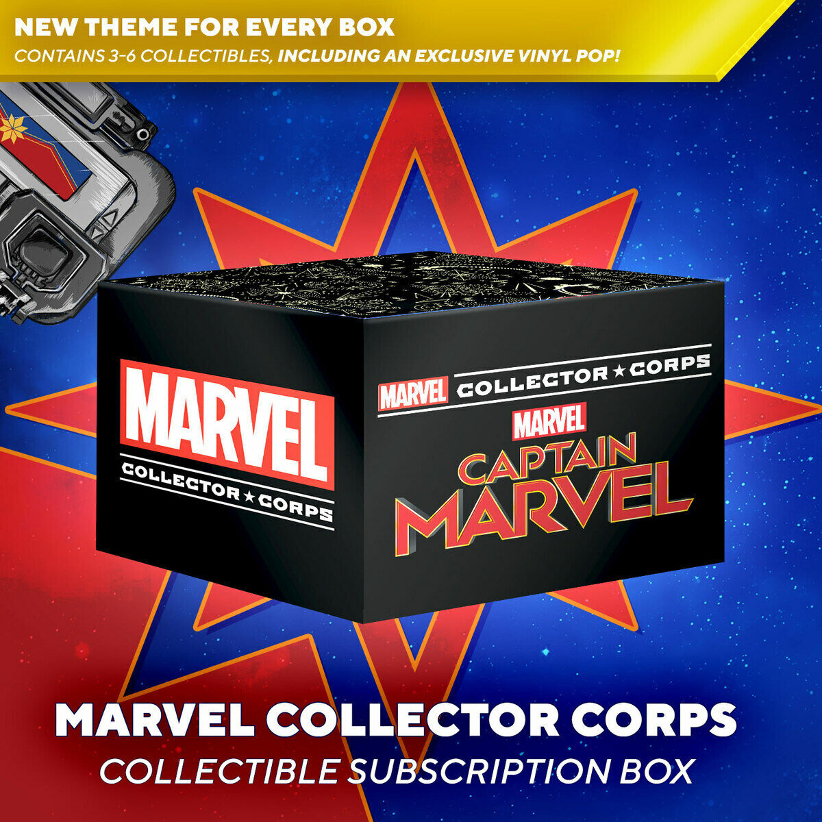 Funko Marvel Collector Corps Subscription Box Captain Marvel Theme M IN HAND