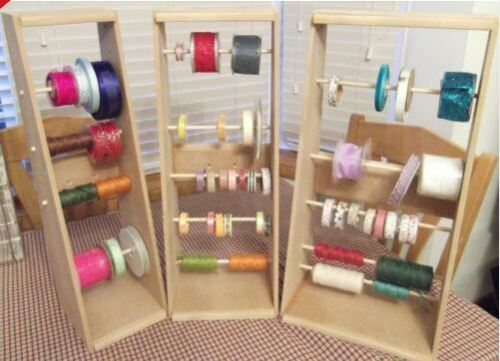 RIBBON STORAGE//UNITS//STAND//HOLDERS//RACK FOR CRAFTS  now available in 3 sizes