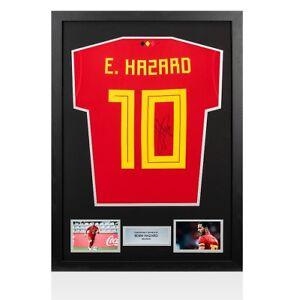 5a677436448 Encadrée Eden Hazard Signé Belgique shirt 2018-Numéro 10 autographe ...