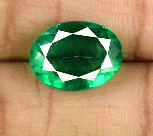 Muzo-Colombian-Emerald-Gemstone-Oval-7-9-Ct-Natural-Untreated-AGI-Certified