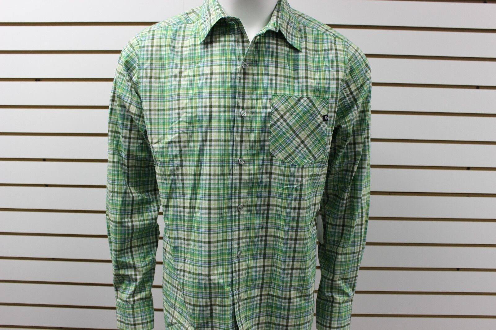 Men's Marmot Hastings Long Sleeve Plaid Button-Up Green Envy 50520 New With Tag