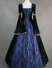 Renaissance Medieval Regal Game Of Thrones Brocade Dress Ball Gown V 129 XXL