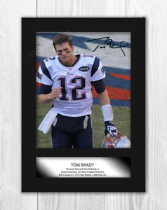 Tom Brady (1) NFL New England Patriots A4 signed mounted poster ... 19afdb2ab