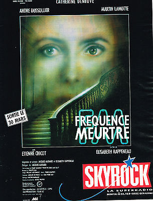 Breweriana, Beer Deneuve Other Breweriana Publicite Advertising 124 1988 Skyrock Radio Frequence Meutre C