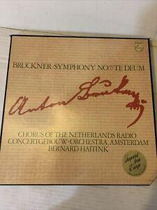 Bruckner Symphony No 7 Te Deum Concertgebouw Haitink 2 LP Philips 802759/60 AY