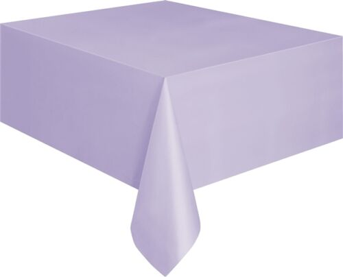 "Plastic Table Cover Cloth Oblong 54/"" X 108/"" 13 Colours"
