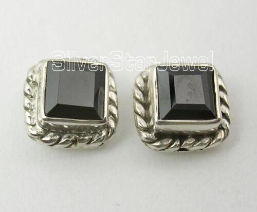 100/% NEW Handmade 1 Pair 925 Silver BLACK ONYX BEAUTIFUL Studs Earrings 0.7 CM