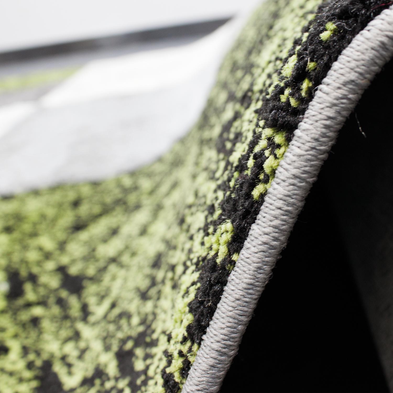 TAPPETO soggiorno a quadri quadri quadri verde grigio crema Melange Taglio Contorni Qualità Top d802ca