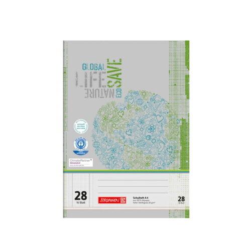 3 Stück Schulheft BRUNNEN  A4 16 Blatt Recycling 80 g//m²