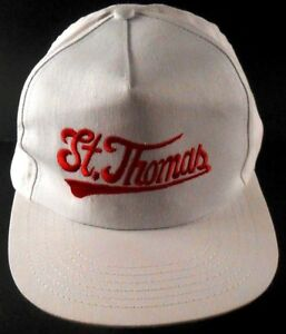 St-Thomas-US-Virgin-Islands-White-Red-Snapback-Cap-Hat