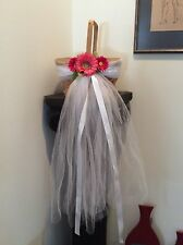 Bridal Flower Basket Wedding Flower Girl Basket Wicker Veil Flow Wedding Bouquet