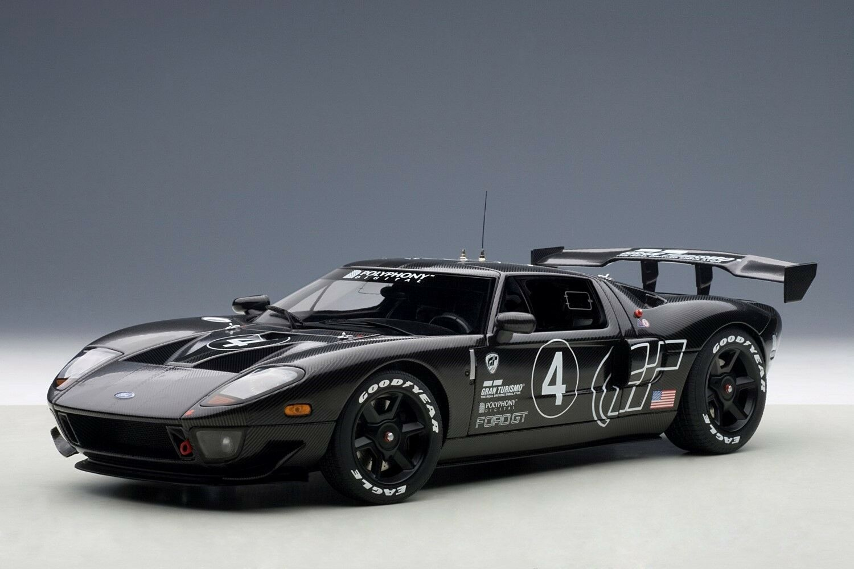 2005 Ford Gt Lm Race Car Spec Ii de fibra de carbono 1:18 Autoart 80514 venta de subasta