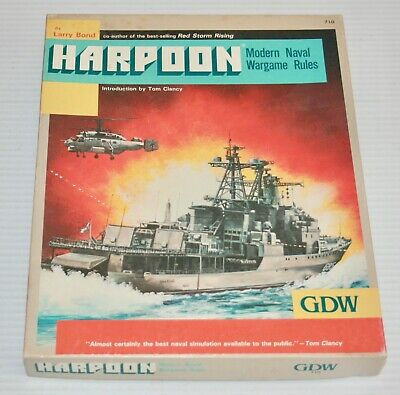 GDW: Harpoon: Modern Naval Wargame Rules: Unpunched & Very Nice 86079007102  | eBay